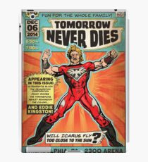 CHIKARA's Tomorrow Never Dies - Official Wrestling Poster iPad Case/Skin
