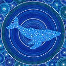 Cetus (whale) Constellation Mandala by Elspeth McLean