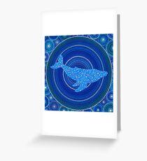 Cetus (whale) Constellation Mandala Greeting Card