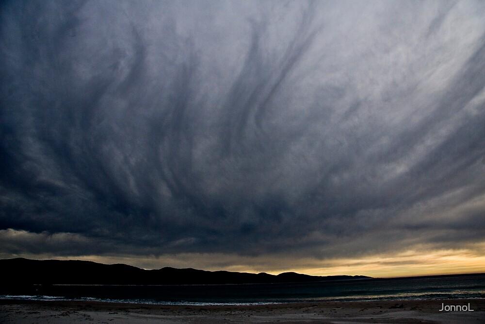 Clouds over Bicheno, Tasmania by JonnoL