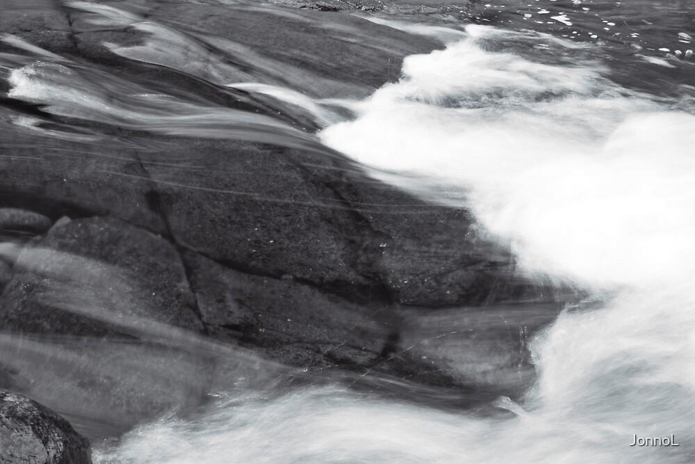 river over rocks by JonnoL