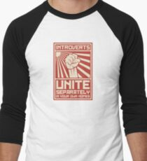 Introverts Unite Separately In Your Own Homes Men's Baseball ¾ T-Shirt