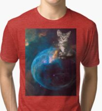 Cat in Outer Space 1 Tri-blend T-Shirt