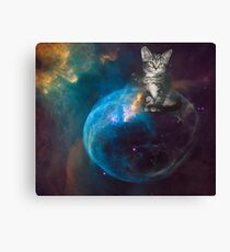 Cat in Outer Space 1 Canvas Print