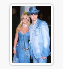 Britney and Justin Denim  Sticker