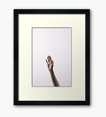 Are you saying hello? Framed Print