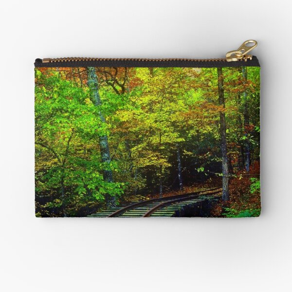 Train Tracks into the Woods Zipper Pouch