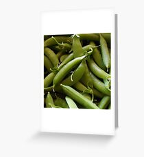 Peas - Fresh Pods Of Snap Peas Greeting Card