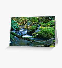Boulder cascades Greeting Card