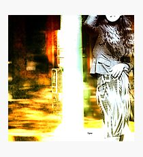 Woman at the Crosswalk  Photographic Print