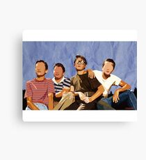 Stand By Me (Digital Fabric Collage)  Canvas Print