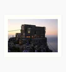 Cable Car Station at Sunset Art Print