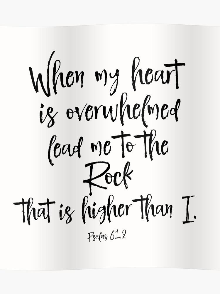 Lead me to the Rock Bible Verse | Poster