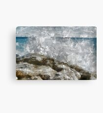 Water on the rocks. Canvas Print
