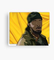 Omar l The Wire (Digital Fabric Collage) Canvas Print