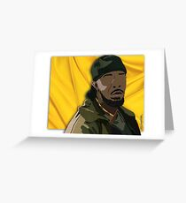 Omar l The Wire (Digital Fabric Collage) Greeting Card