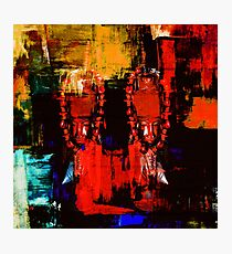 Digital Tribal Oil Painting  Photographic Print