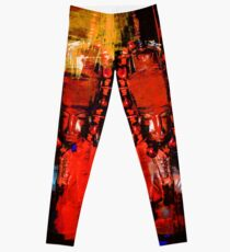 Digital Tribal Oil Painting  Leggings