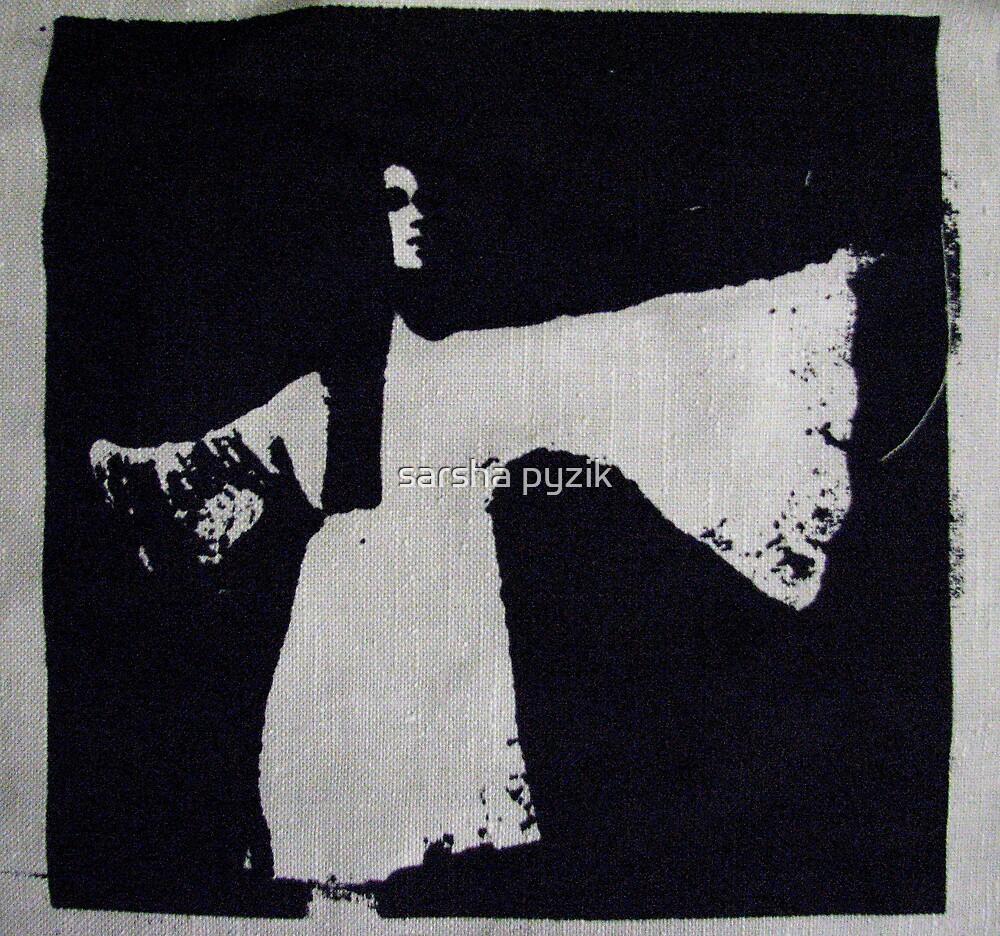 Girl on linen by sarsha pyzik
