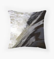 standing at the edge Throw Pillow