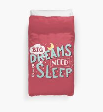 Big dreams need big sleep - Sky blue Duvet Cover