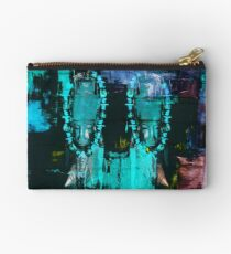 Digital African Tribal Jewelry Art Studio Pouch