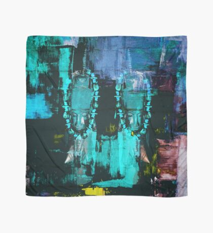 Digital African Tribal Jewelry Art Scarf