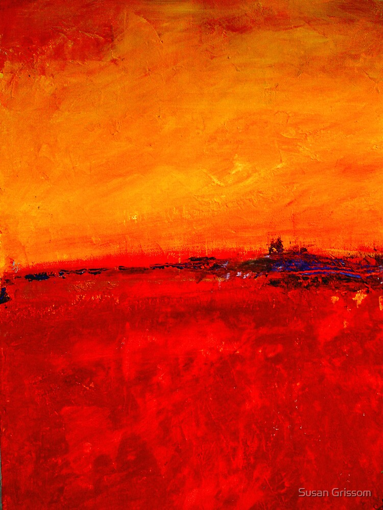 Fiery Sunset by Susan Grissom