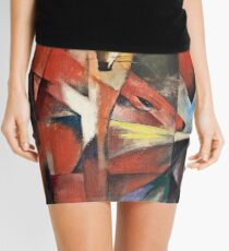 Franz Marc - The Foxes (1913) Mini Skirt