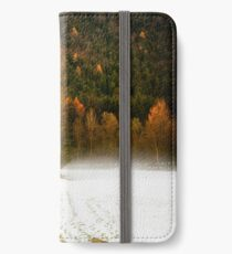 Group of pine trees in the mist iPhone Wallet/Case/Skin