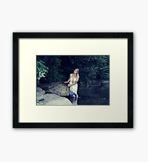 Beautiful girl in the river Framed Print