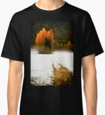 Group of pine trees in the mist Classic T-Shirt