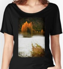 Group of pine trees in the mist Women's Relaxed Fit T-Shirt