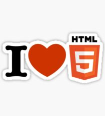 i love html5 Sticker