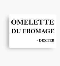 Omelette du fromage Canvas Print