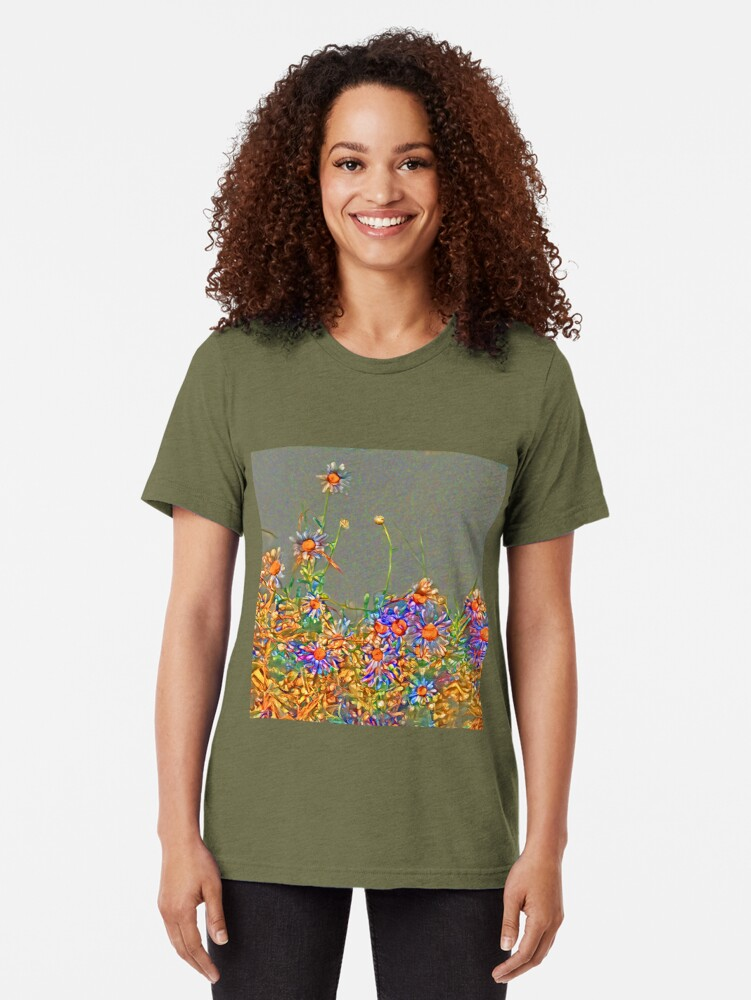 Alternate view of  Wildflowers Tri-blend T-Shirt