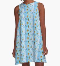 Ocean Vibes A-Line Dress