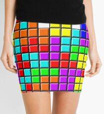 Tetris Pattern Mini Skirt