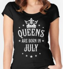 Queens are born in July Happy Birthday Queen Women's Fitted Scoop T-Shirt