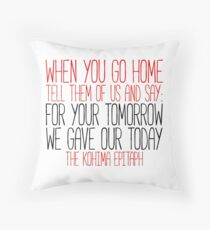 The Kohima Epitaph Throw Pillow