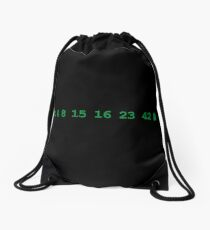 Lost Numbers Drawstring Bag