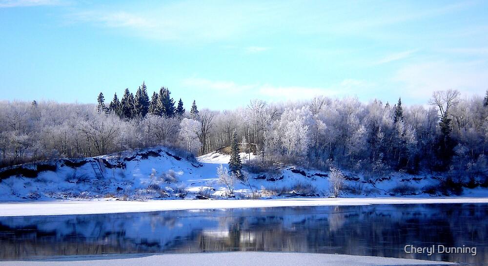 winnipeg river view by Cheryl Dunning
