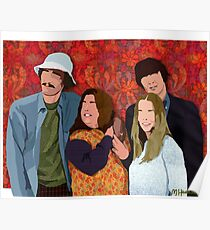 The Mamas and the Papas (Digital Fabric Collage)  Poster