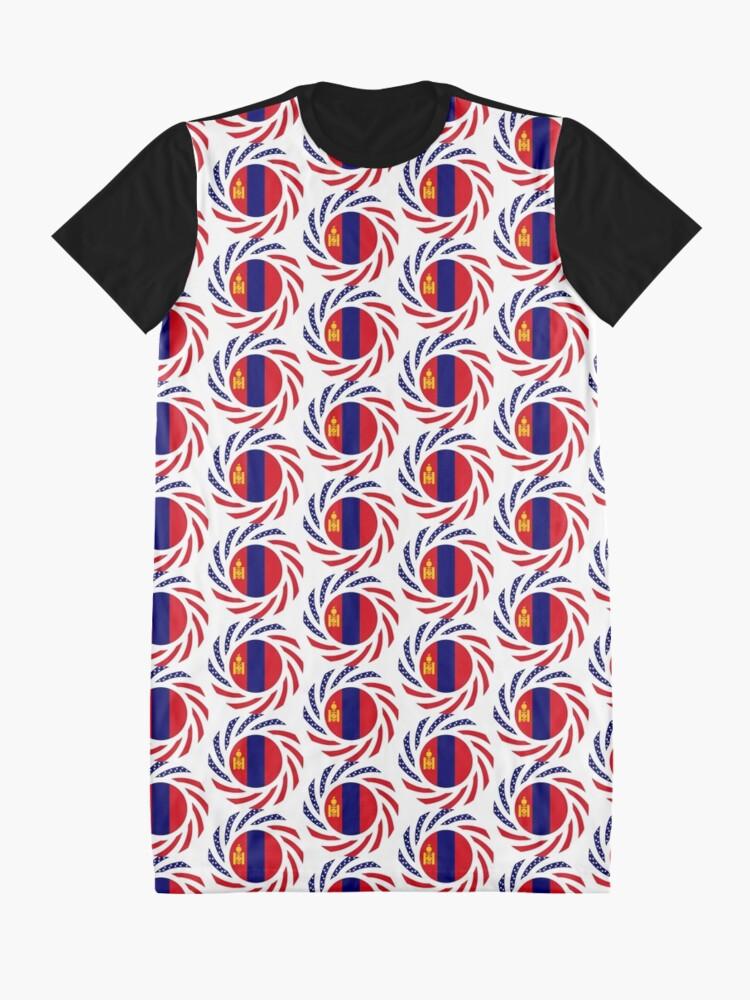 Alternate view of Mongolian American Multinational Patriot Flag Series Graphic T-Shirt Dress