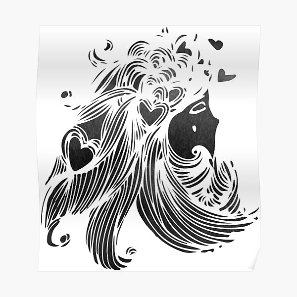 Hearts in Hair Poster