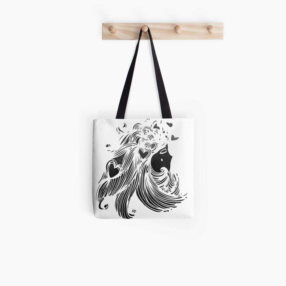 Hearts in Hair Tote Bag