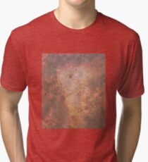 Faded Space Marble Orange and Red Sky's Tri-blend T-Shirt