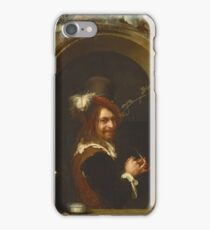Frans Van Mieris The Elder - Man With Pipe At The Window1658 iPhone Case/Skin