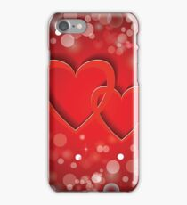 two red  hearts iPhone Case/Skin