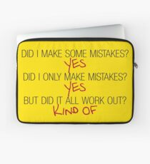 Did I make some mistakes? - Dirk Gently Laptop Sleeve